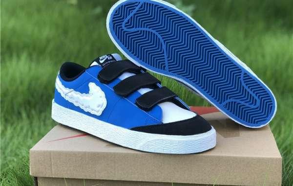 2020 New Kevin Bradley x Nike SB Blazer Low Heaven University Blue White