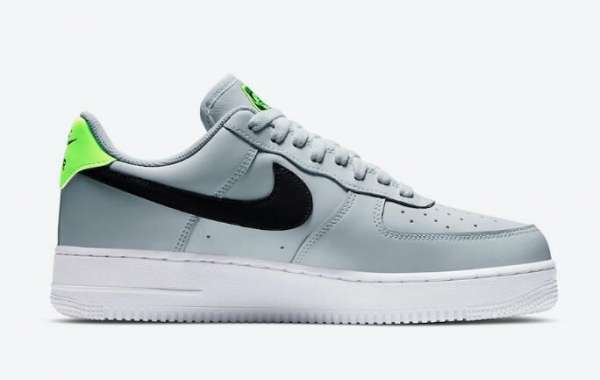 Nike Air Force 1 Low Worldwide Pure Platinum Black Green