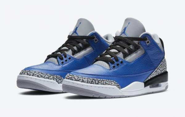 "CT8532-400 Air Jordan 3 ""Blue Cement"" released on October 10th"