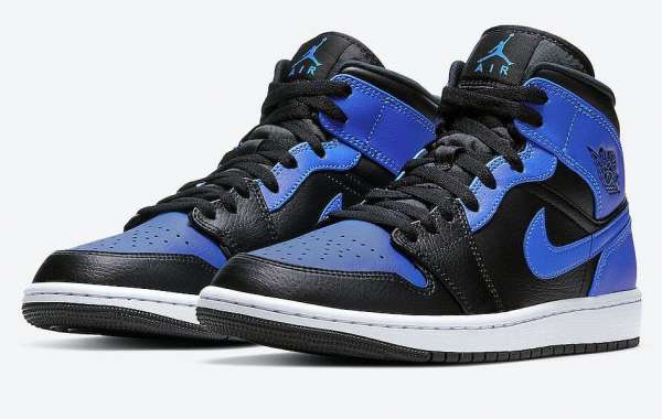"""This Air Jordan 1 Mid Pays Tribute To The """"Royal"""" Color Scheme"""