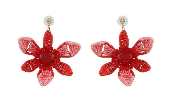 Bold Flower Drop Earrings