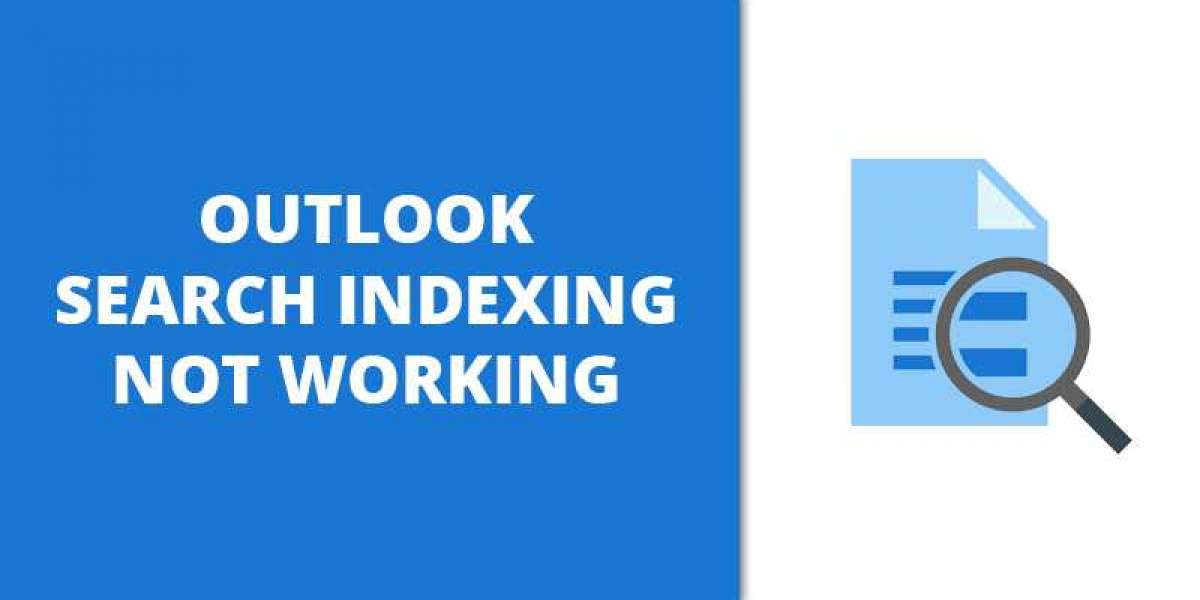 How to solve Outlook search indexing not working?