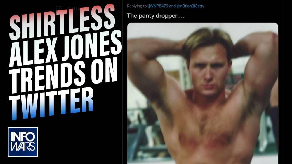 Shirtless Alex Jones Trends on Twitter, Proves He's Not Bill Hicks